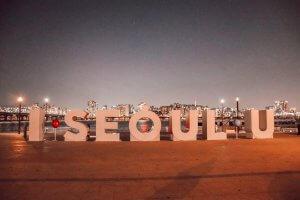 Lettres géantes à Séoul